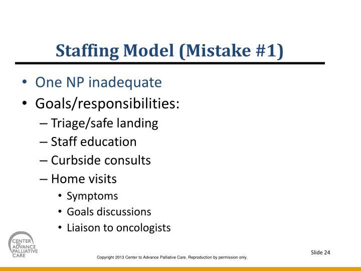 Staffing Model (Mistake #1)