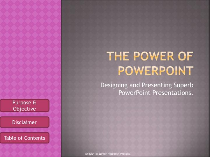 the power of powerpoint n.