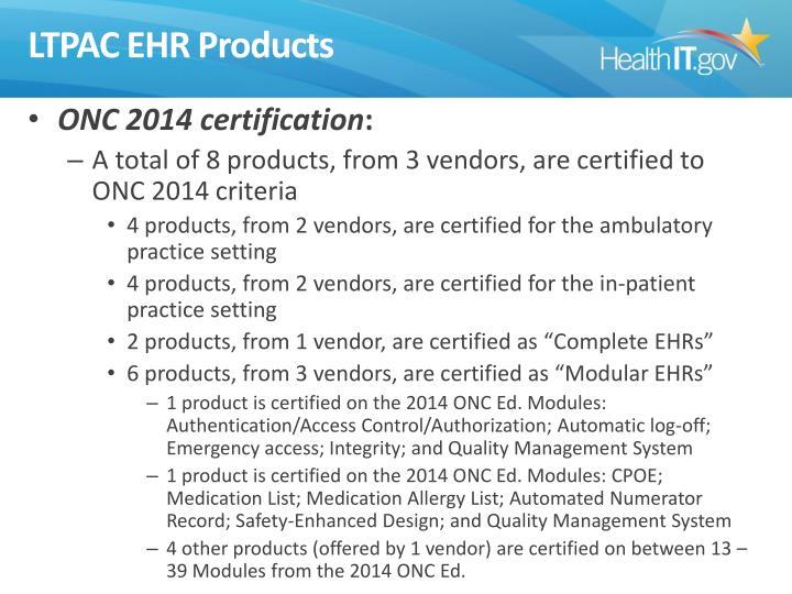 LTPAC EHR Products