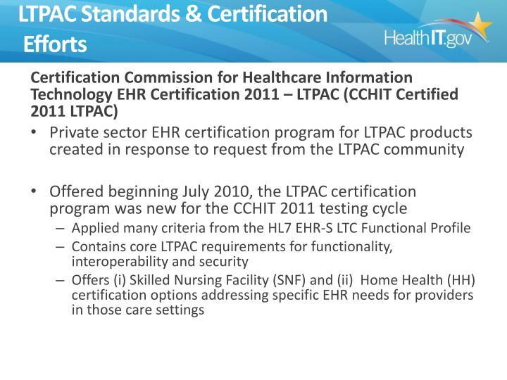 LTPAC Standards & Certification