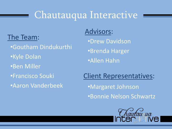 Chautauqua interactive