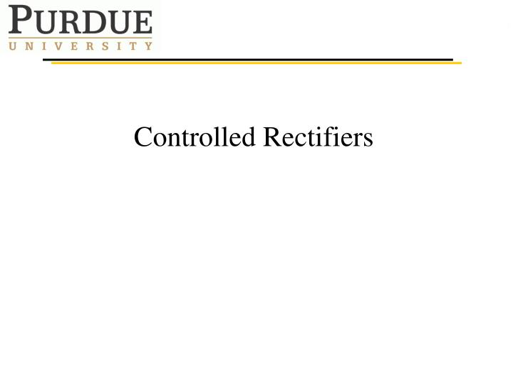 controlled rectifiers n.