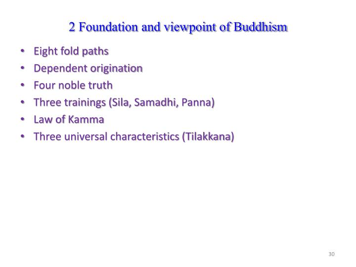 2 Foundation and viewpoint of Buddhism