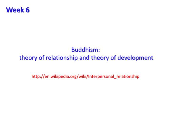 Buddhism theory of relationship and theory of development