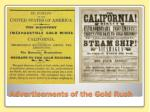 advertisements of the gold rush