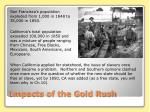 impacts of the gold rush
