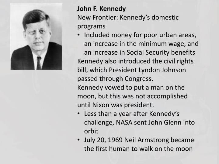 john kennedys new frontier