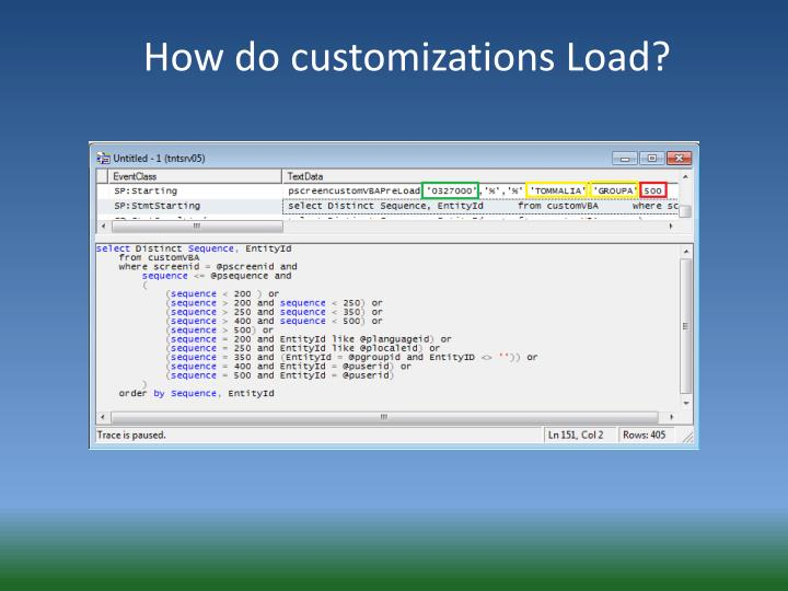 How do customizations Load?