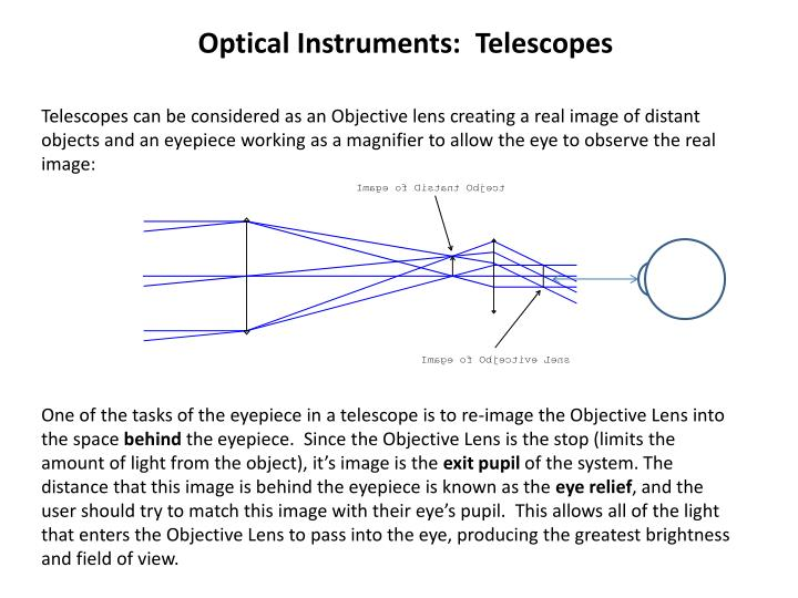 Optical Instruments:  Telescopes