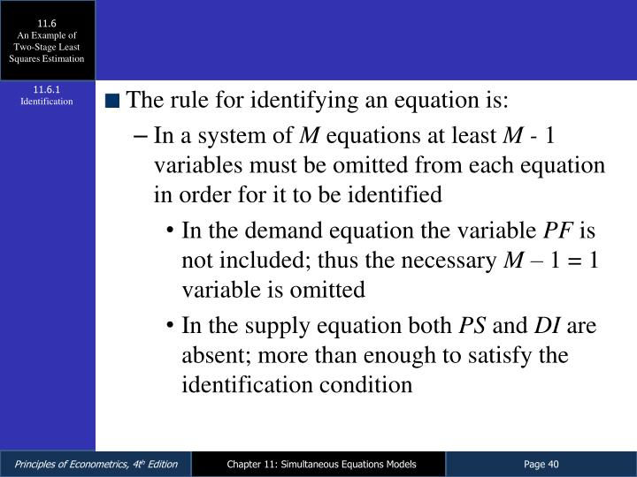 simultaneous equation model example
