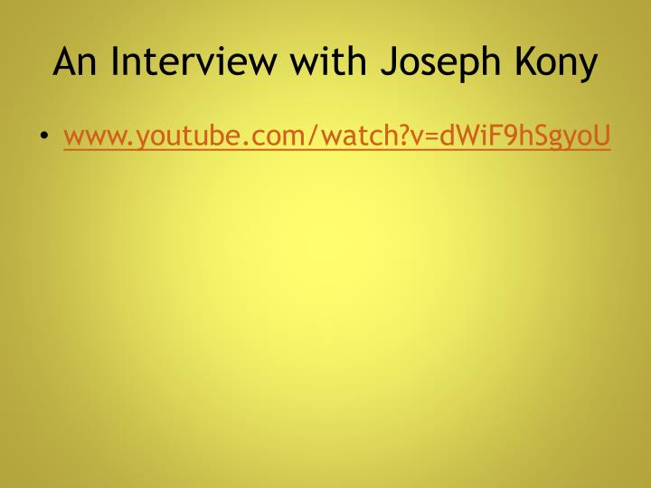 An Interview with Joseph