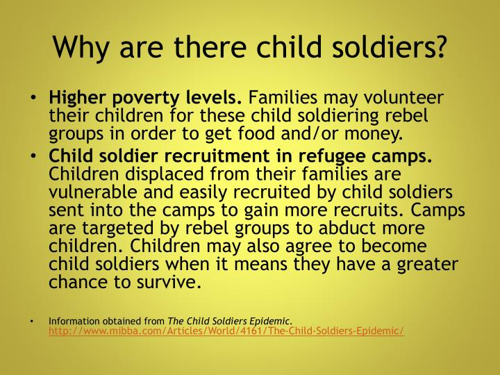 Why are there child soldiers?