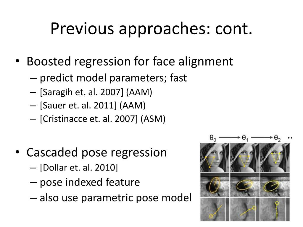 PPT - Face Alignment by Explicit Shape Regression PowerPoint