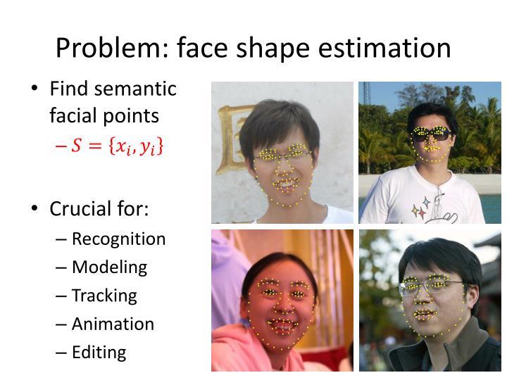 Problem face shape estimation