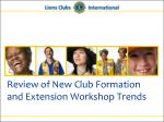 review of new club formation and extension workshop trends1