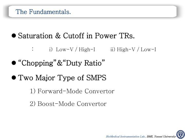 The Fundamentals.