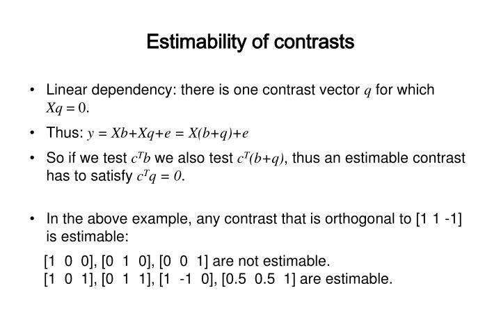 Estimability