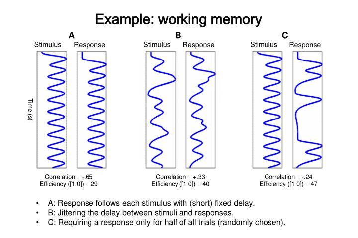Example: working memory