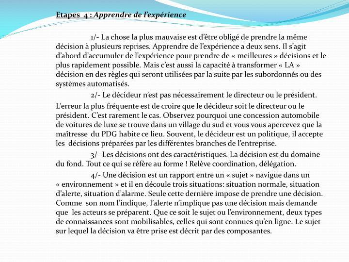 Etapes  4 :