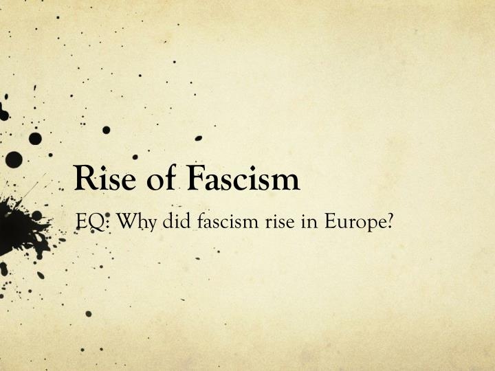 what is fascism and why does