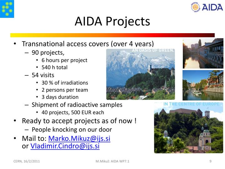 AIDA Projects