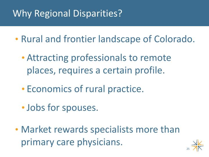 Why Regional Disparities?