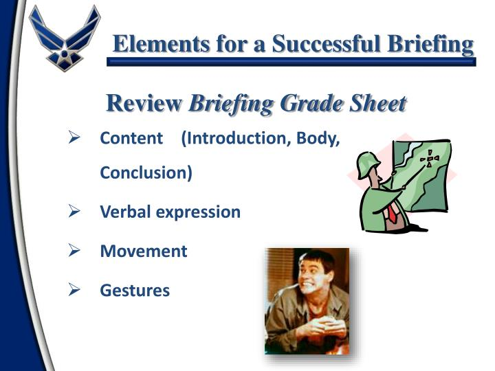 Content    (Introduction, Body, Conclusion)