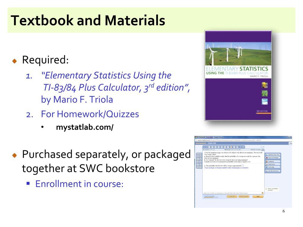 PPT - Math 119: Elementary Statistics PowerPoint