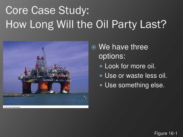 Core case study how long will the oil party last1