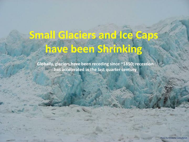 Small Glaciers and Ice Caps have been Shrinking