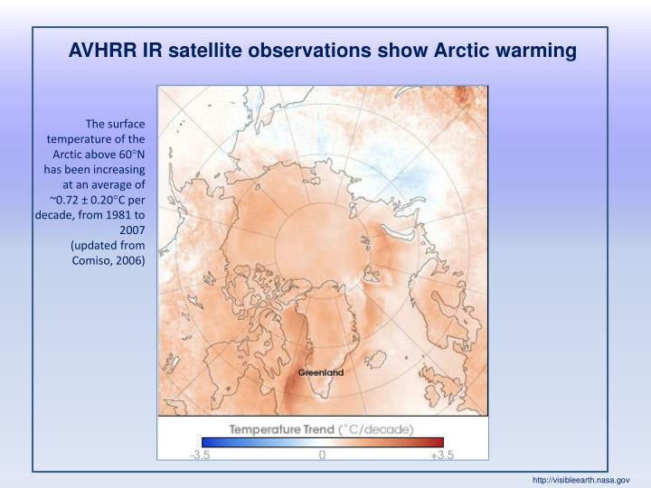 AVHRR IR satellite observations show