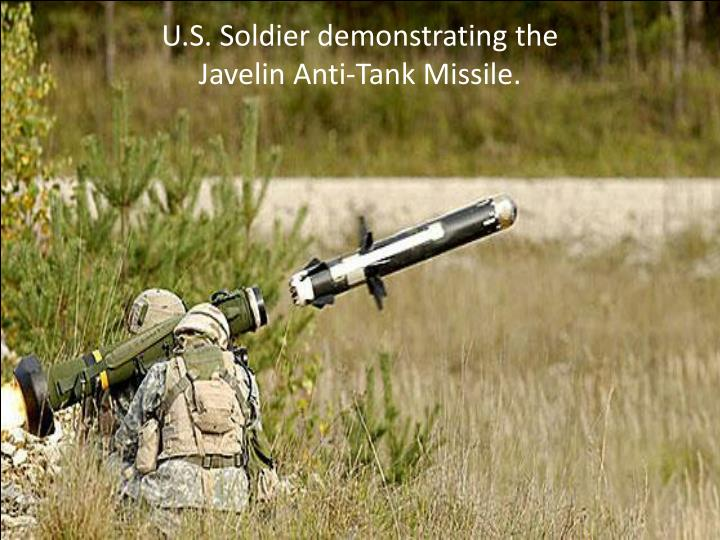 U.S. Soldier demonstrating the