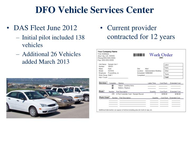 DFO Vehicle Services Center