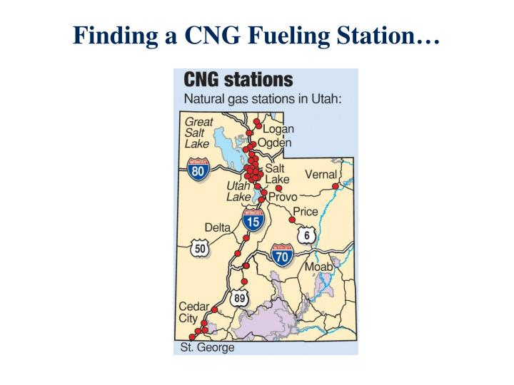 Finding a CNG Fueling Station…