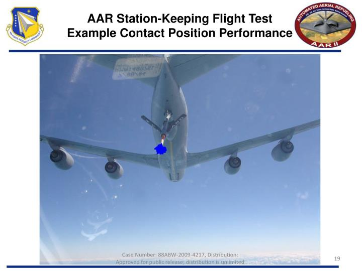 AAR Station-Keeping Flight Test