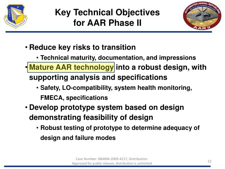 Key Technical Objectives