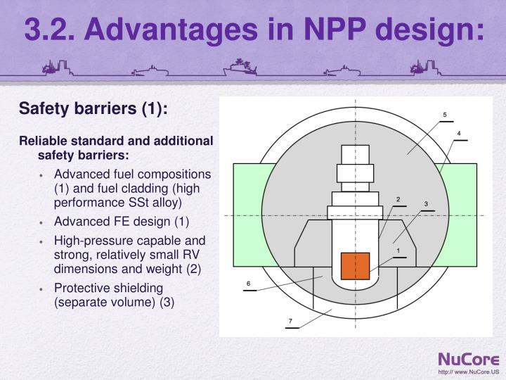 3.2. Advantages in NPP design: