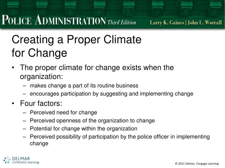Creating a Proper Climate