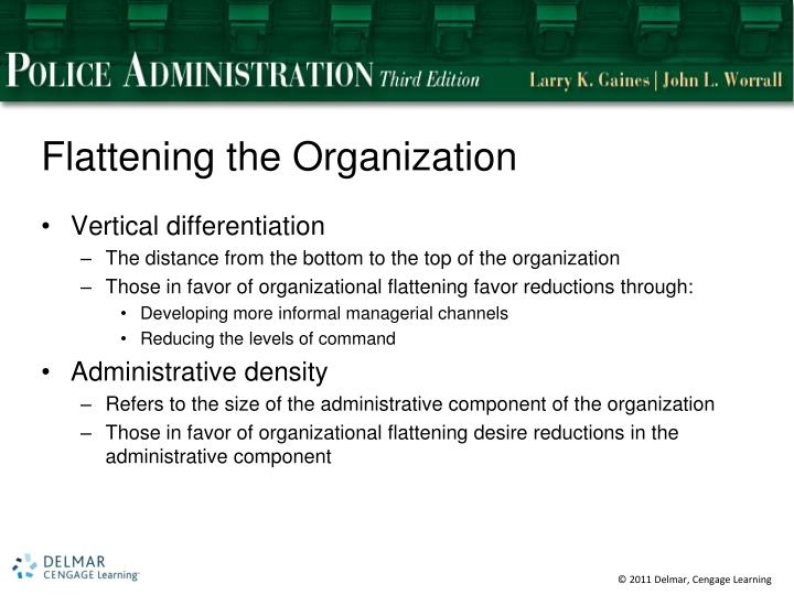 Flattening the Organization