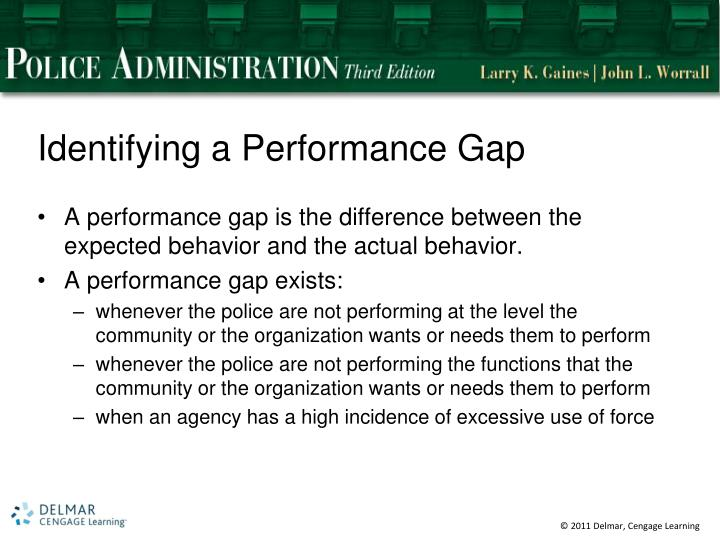 Identifying a Performance Gap
