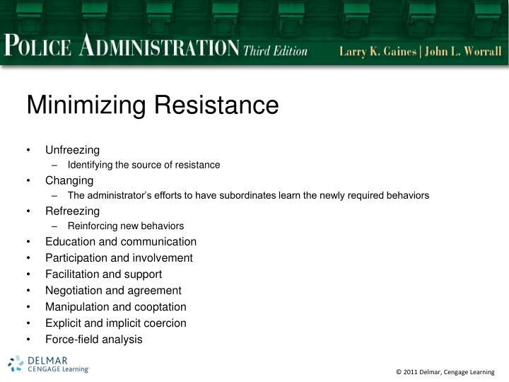 Minimizing Resistance