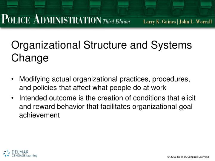 Organizational Structure and Systems Change