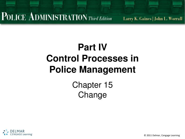 Part iv control processes in police management