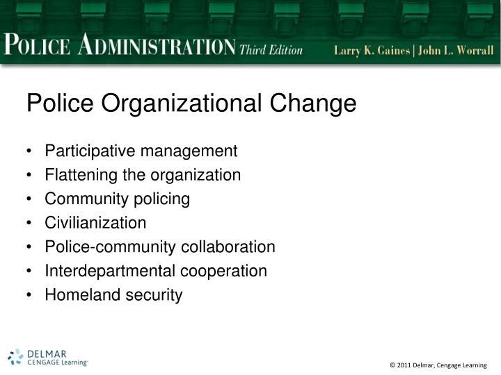 Police Organizational Change