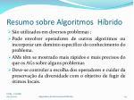 resumo sobre algoritmos h brido