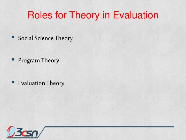 Roles for Theory in