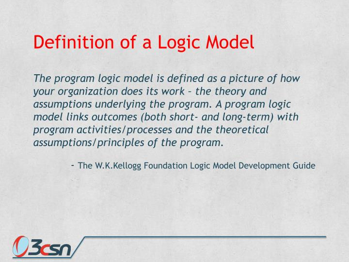 Definition of a Logic Model