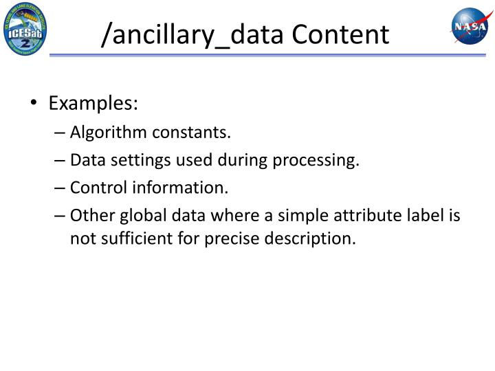 /ancillary_data Content