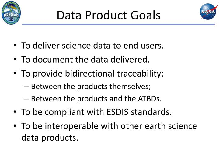 Data Product Goals