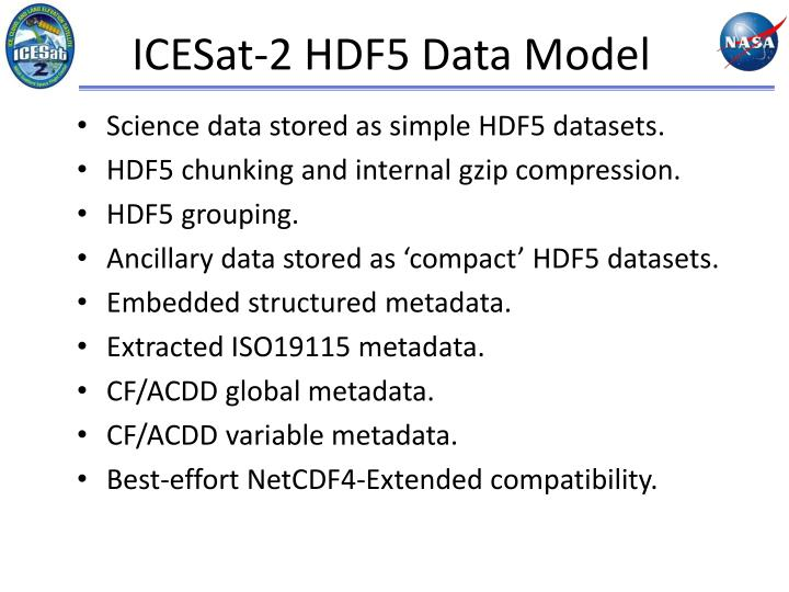 ICESat-2 HDF5 Data Model
